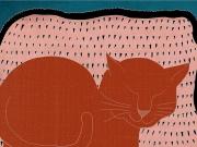 Sleeping Cat Print